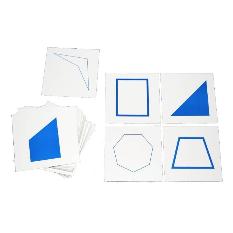 Cartes pour le cabinet de géométrie - Montessori