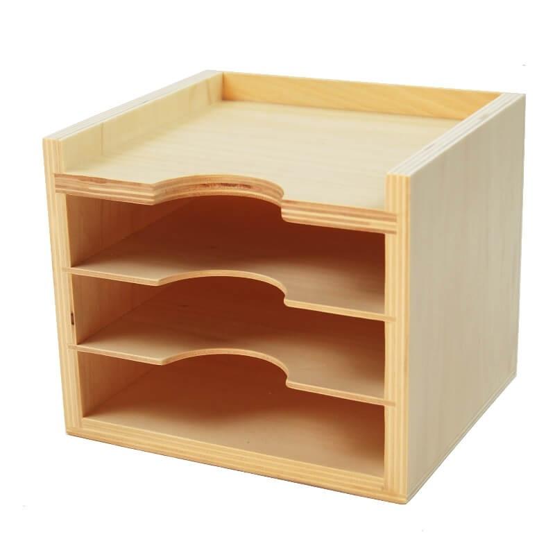Cabinet pour cartes de botanique ou de géométrie Montessori