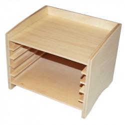 Cabinet de zoologie pour 5 puzzles Montessori