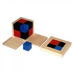 Cube du binôme Montessori
