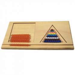 support pour les barrettes de perles colorées 2 Montessori