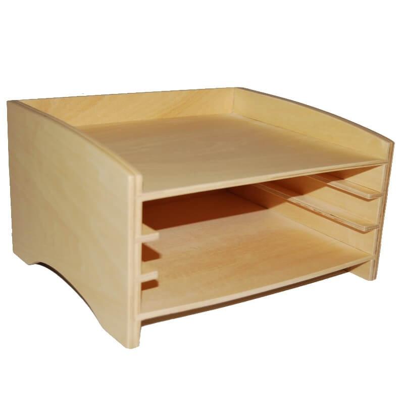 Cabinet pour 3 puzzles de botanique Montessori