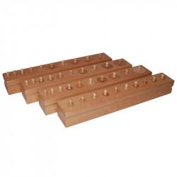 Blocs de cylindres en hêtre (premium) Montessori