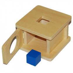 Boite à forme avec cube Montessori
