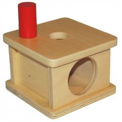 Boite à forme avec petit cylindre Montessori