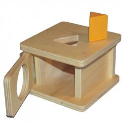 Boite à forme avec prisme triangulaire Montessori