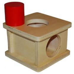 Boite à forme avec grand cylindre Montessori